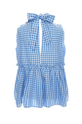 Talley Bow Top in Blue Gingham