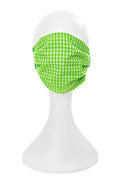 Adult Premium Mask in Lime Green Gingham