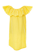 Meredith Ruffle in Yellow Gingham