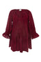 Kathy Dress in Maroon