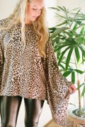Adrienne Tunic Top in Silky Leopard