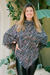 Coco Tweed Poncho in Black