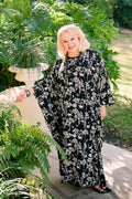 Kathleen Long Caftan in Botanical Monkey