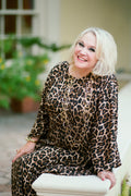 Kathleen Long Caftan in Leopard