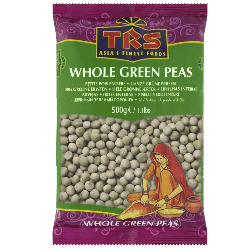 TRS Whole Dried Peas (Green) (500g) - Dookan