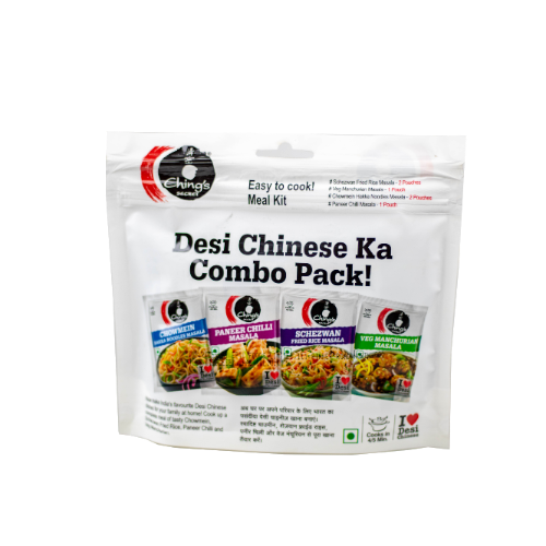 Chings secret Desi Chinese Ka Masala Combo pack (20g x 6 Sachets) - Dookan