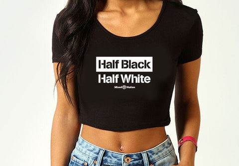 Half Black Half White crop top