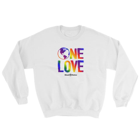 One Love White Sweatshirt