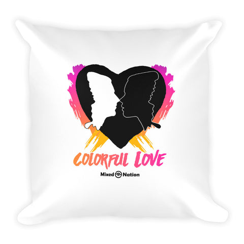 Colorful Love Square Pillow