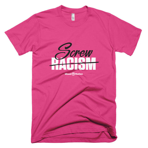 Screw Racism black/white logo unisex t-shirt