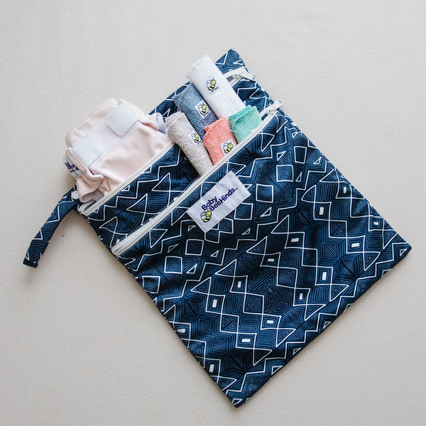 Baby Beehinds Double Pocket Wetbag | Library Bag | Beach Bag