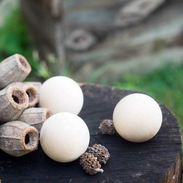 Round Wooden Balls set of 3 | Explore Nook