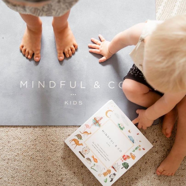 Kids Yoga Mat Coal | Mindful and Co Kids