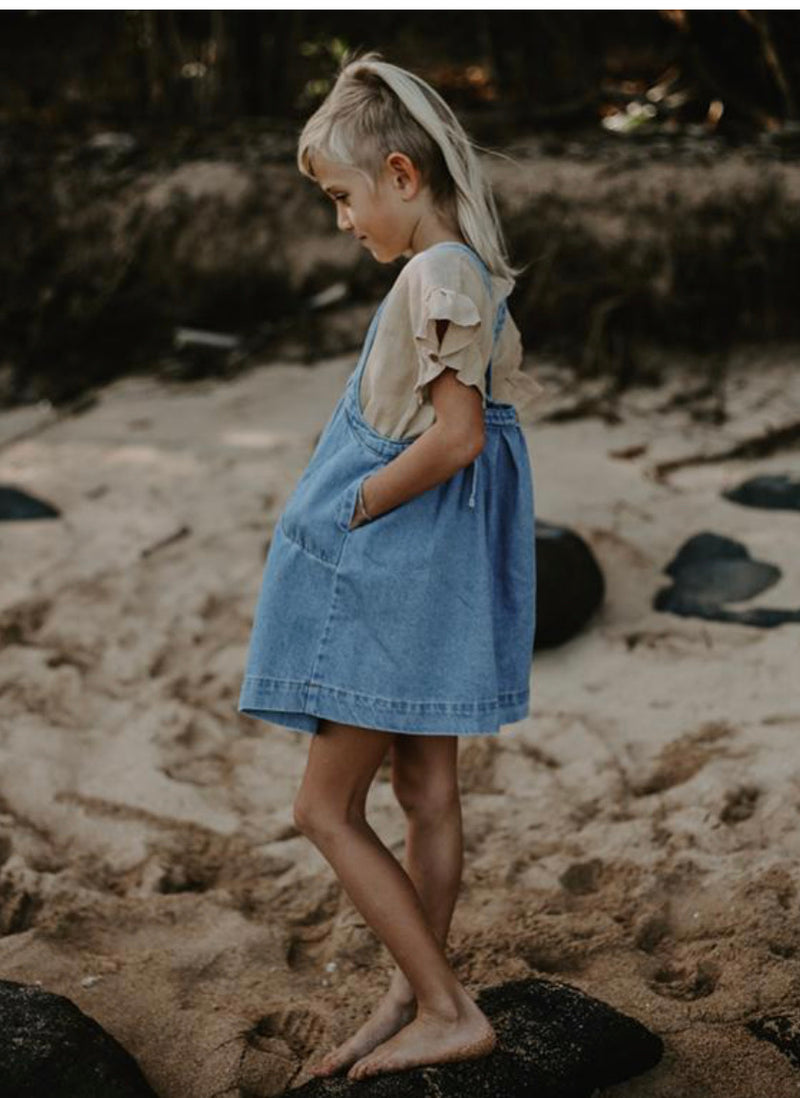 The Oversized Denim Pinafore | The Simple Folk
