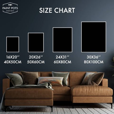 Size Chart Paint by Numbers