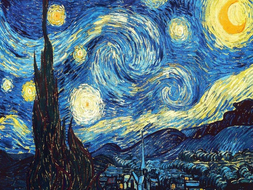 Starry sky vincent van gogh paint by numbers canvas from paint pots