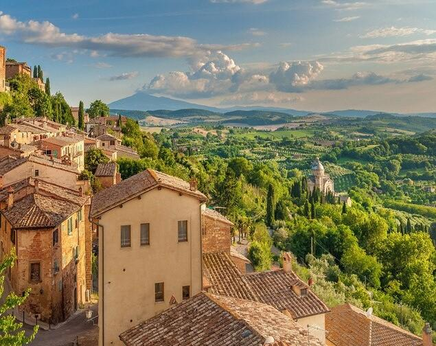 Artistic Town Of Italy - Paint by numbers canvas for adults from paint pots
