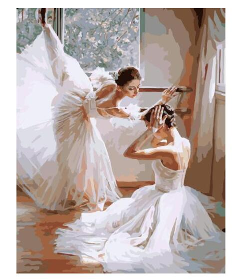 Ballet Dancing Girls - Paint by numbers canvas for adults from paint pots