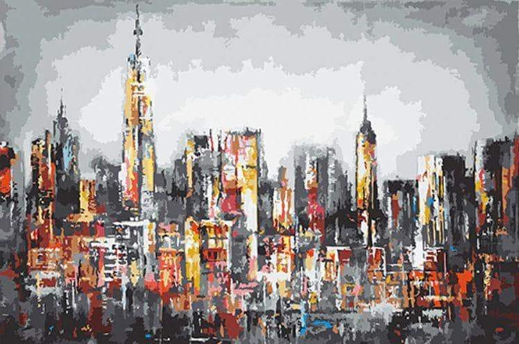 Beautiful View Of Nyc - Paint by numbers canvas for adults from paint pots