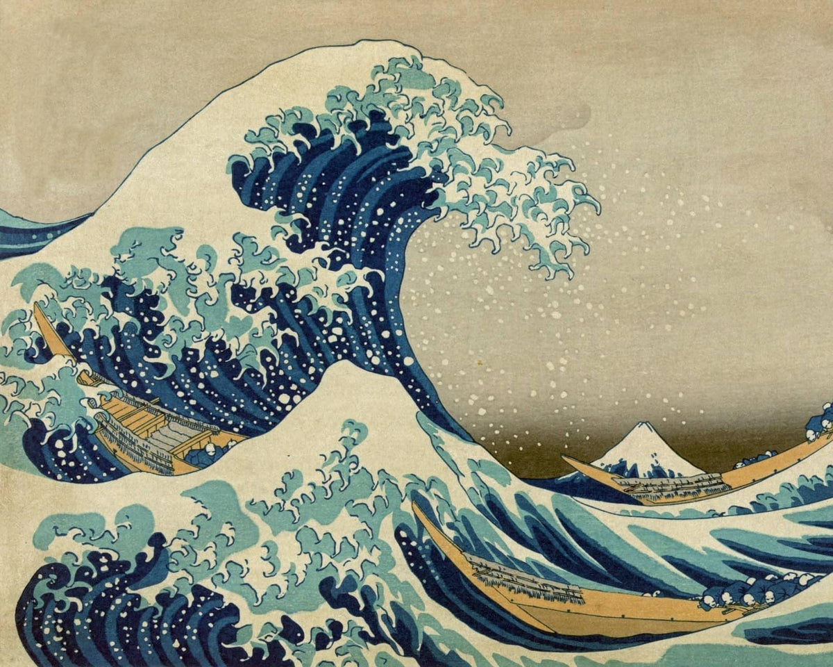 Big Wave Kanagawa - Hokusai - The Paint Pots - Paint by numbers kits - Paint by numbers for adults