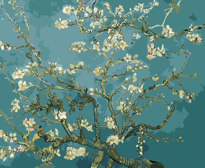 Blooming Almond Tree paint by numbers canvas for adults from paint pots