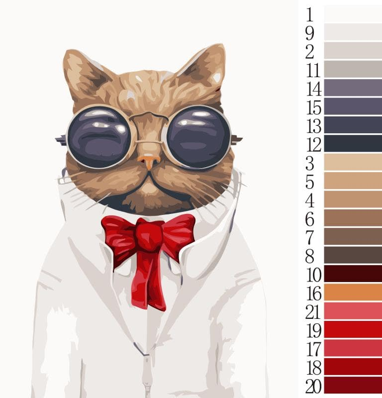Cat Wearing Goggles - Paint by numbers canvas for adults from paint pots