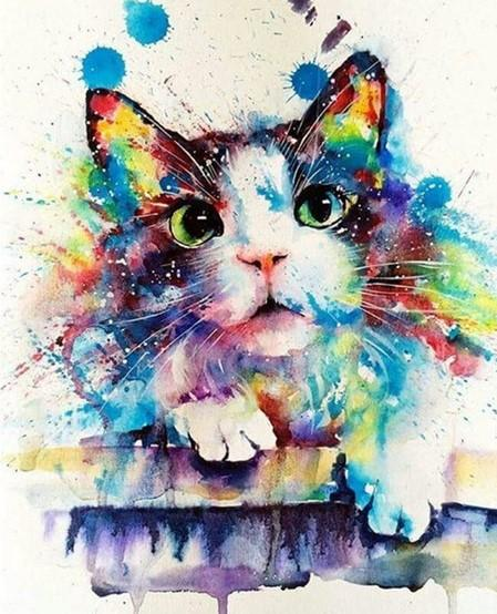 Cute Kitten - Paint by numbers canvas for adults from paint pots