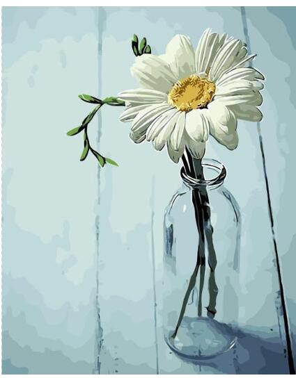 Flower In Bottle - Paint by numbers canvas for adults from paint pots