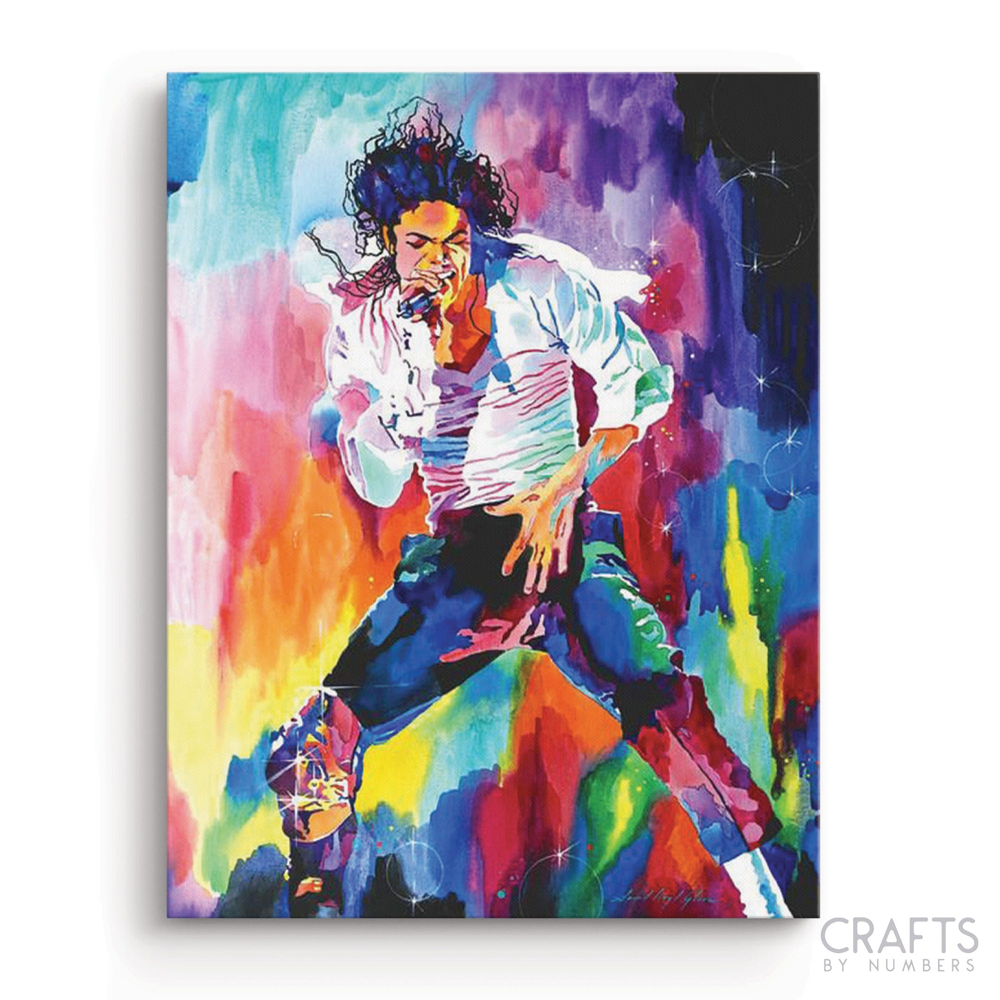 Iconic Painting of Michael Jackson paint by numbers canvas for adults from paint pots