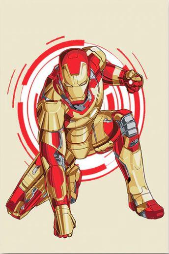 Iron Man Uper Hero - Paint by numbers canvas for adults from paint pots