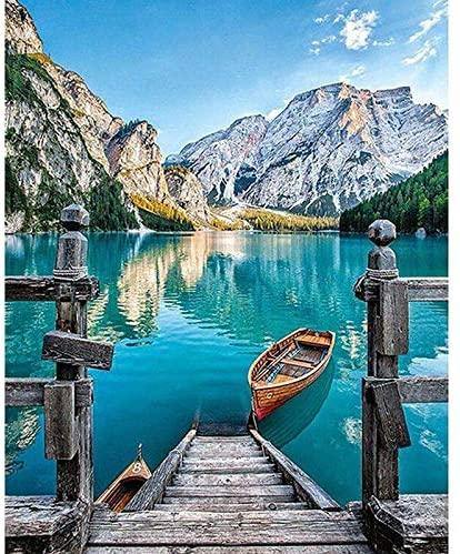 Italia Bella lake paint by numbers canvas for adults from paint pots