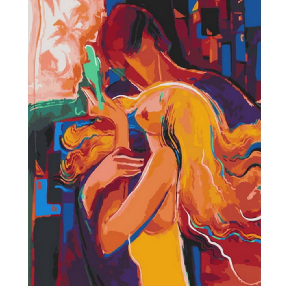 Lovely Couple Abstract Painting paint by numbers canvas for adults from paint pots
