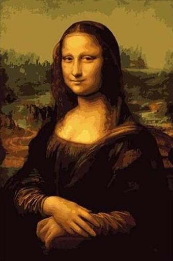 Mona Lisa Masterpiece Art paint by numbers canvas for adults from paint pots