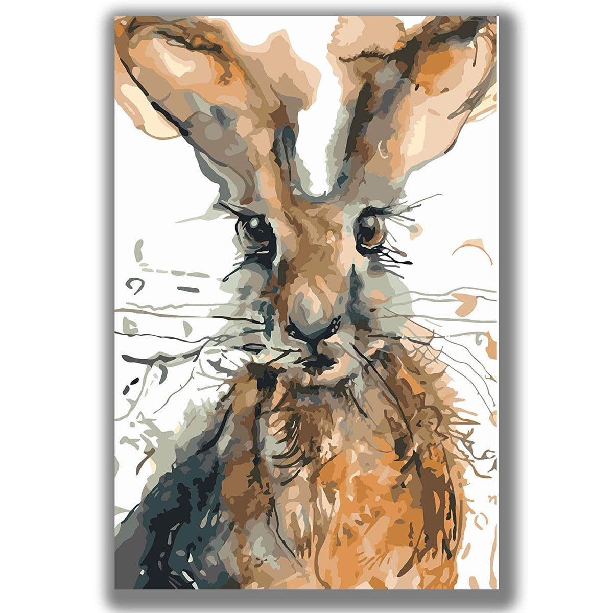 Rabbit Art - Paint by numbers canvas for adults from paint pots