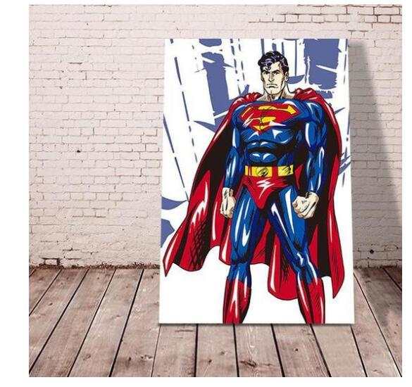 Superman Hero - Paint by numbers canvas for adults from paint pots