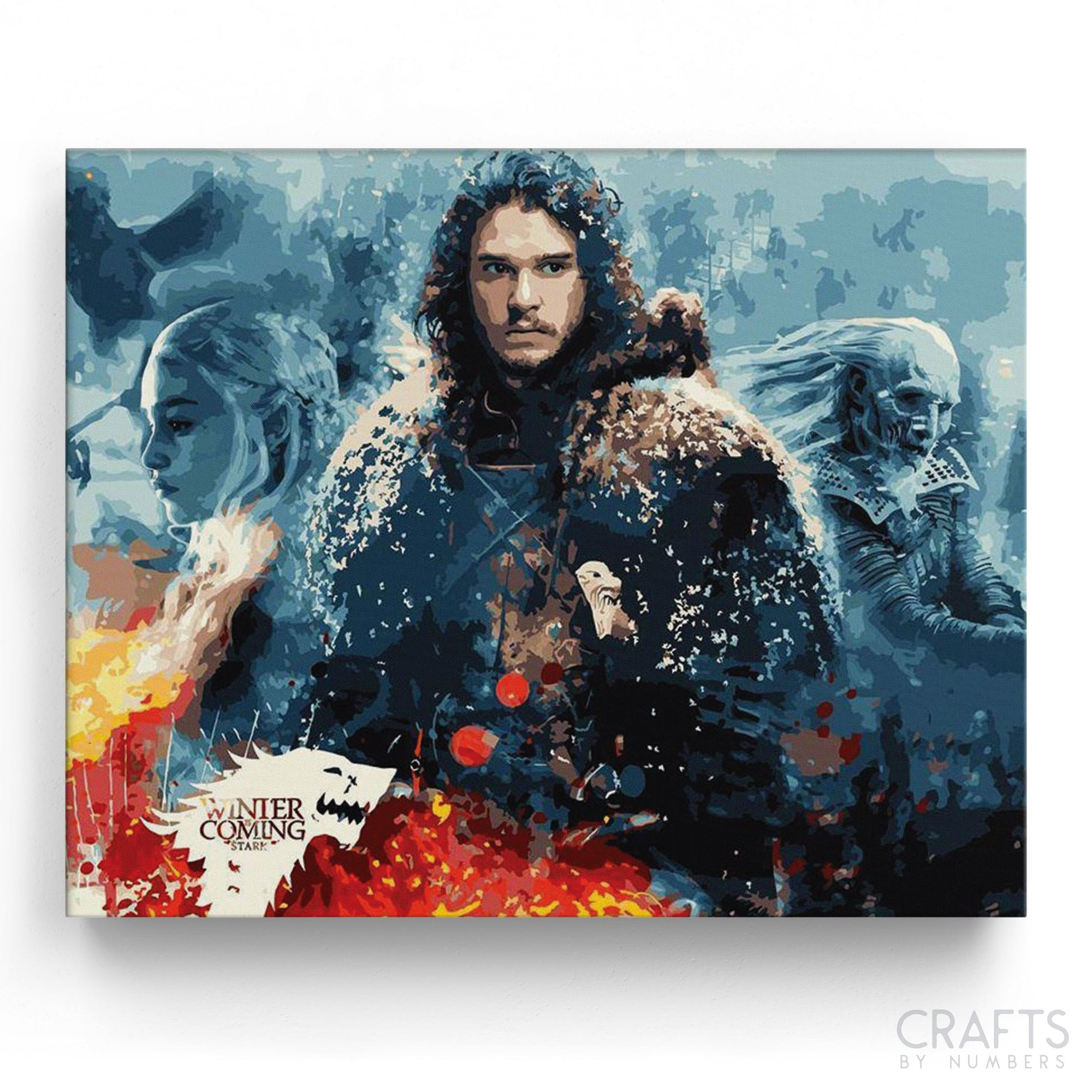 The Game of Thrones Art paint by numbers canvas for adults from paint pots