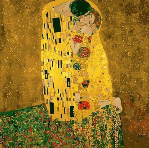The kiss gustav klimt paint by numbers canvas from paint pots