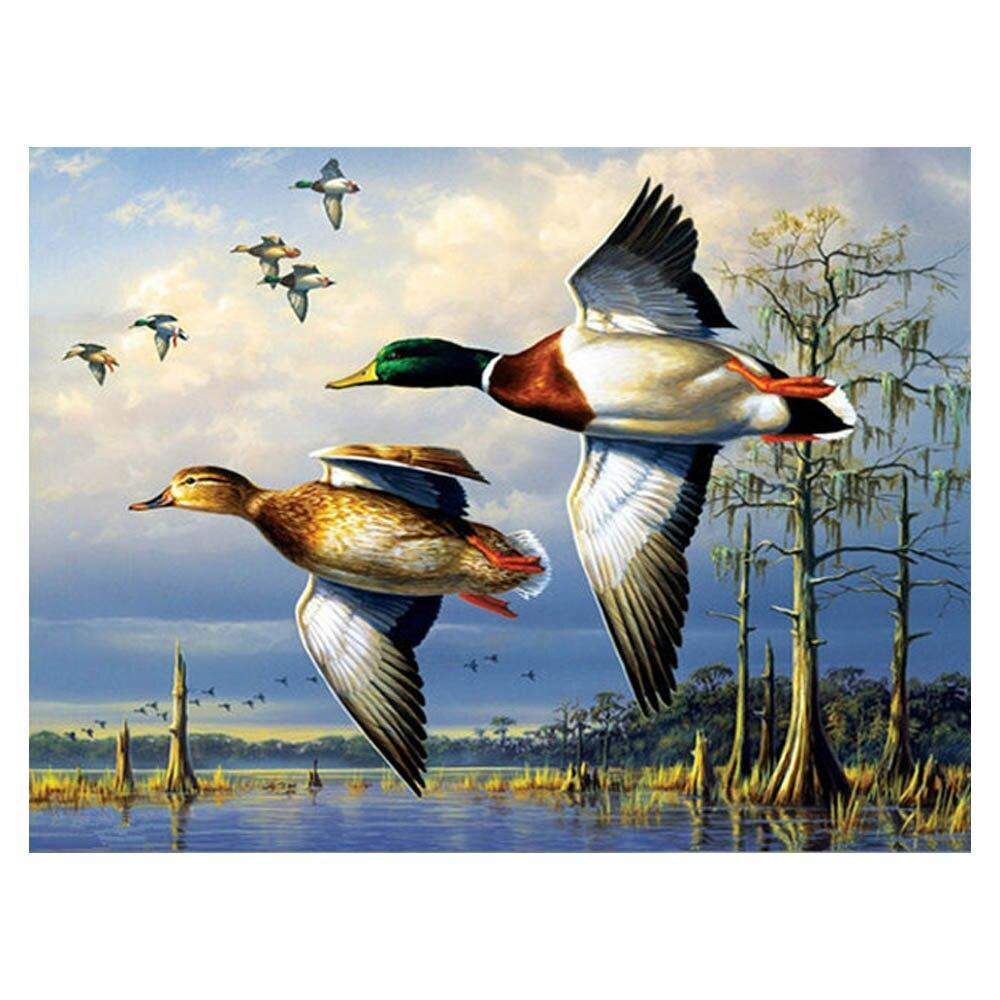 Waterfowl Floating Painting paint by numbers canvas for adults from paint pots