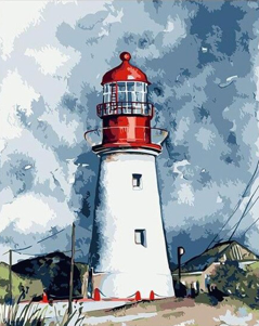 Abstract Lighthouse - The Paint Pots - Paint by numbers kits - Paint by numbers for adults