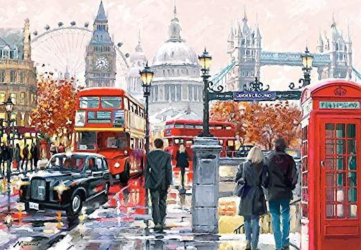 London Street paint by numbers canvas for adults from paint pots