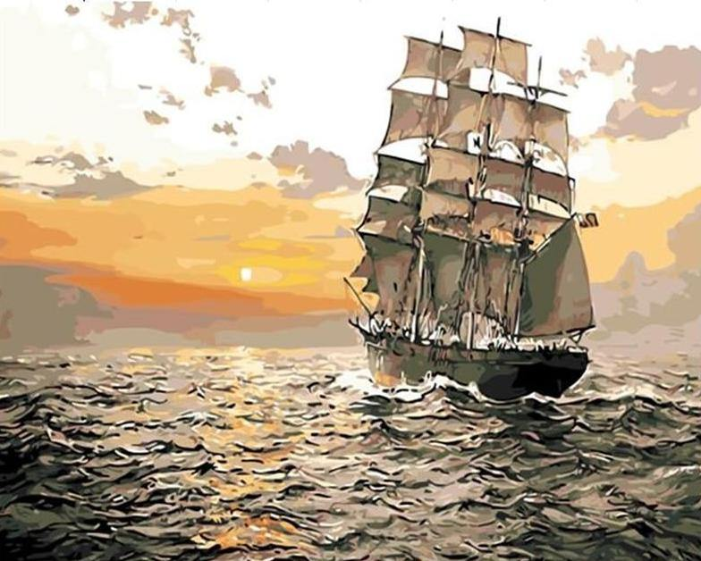 Sailing Sunset - The Paint Pots - Paint by numbers kits - Paint by numbers for adults