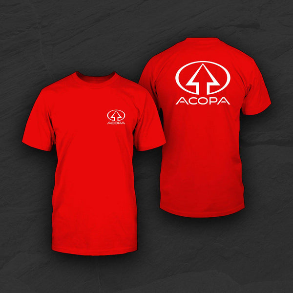 Acopa T-Shirt, Red, White Logo