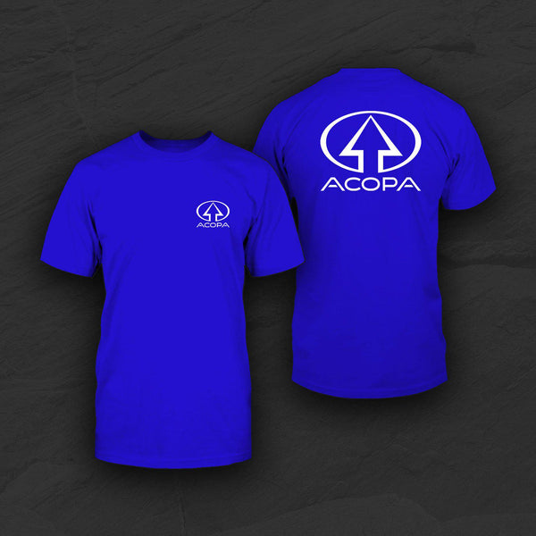 Acopa T-Shirt, Blue, White Logo