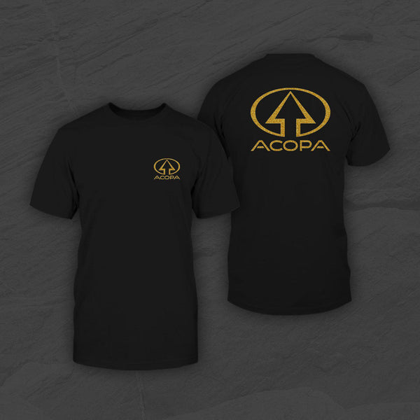 Acopa T-Shirt, Black, Gold Logo
