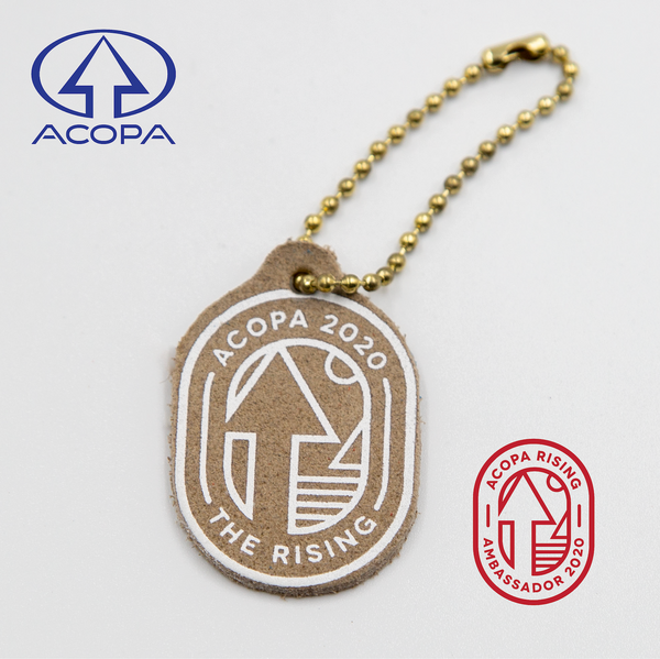 Acopa Limited Edition Leather & Brass Keychain