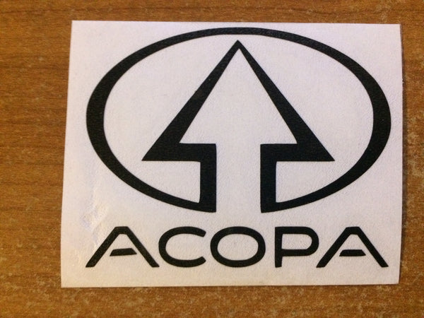 Cut-Away Vinyl Acopa Sticker
