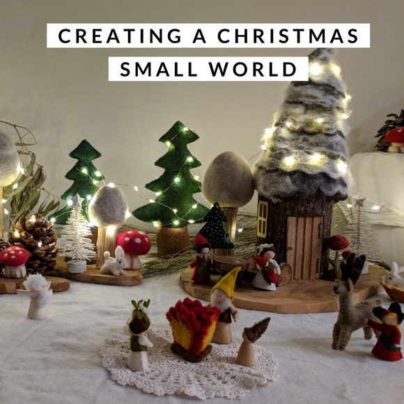 Creating a Christmas Small World by Bekah @little_faerie_folk_