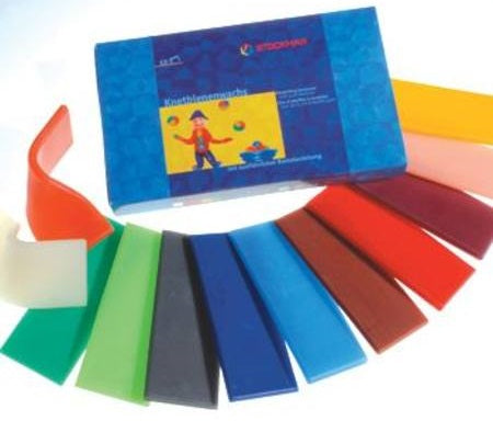 Stockmar Modelling Beeswax 12 Assorted Colours