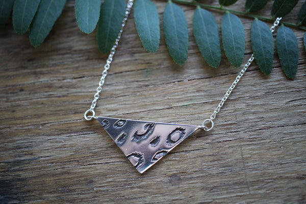 Wild Things Triangle necklace