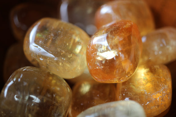 Honey Calcite (tumbled)